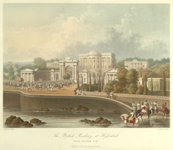 The British Residency at Hyderabad, drawn in 1813